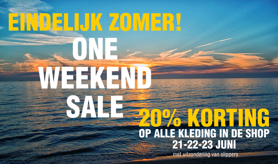 banner site one weekend sale zomer 2019