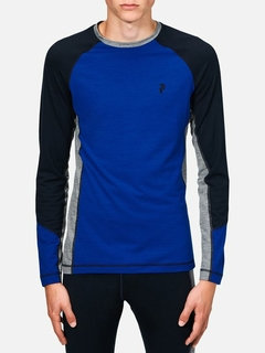 Peak Performance Heren Thermo Shirt Long Sleeve Salute Blue - afb. 1