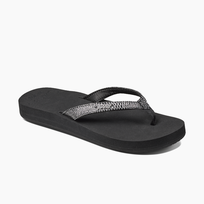 Reef dames slipper Star Cushion black/silver