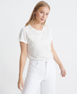 SuperDry Tinsley Embroidery Tee Chalk White - afb. 1