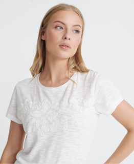 SuperDry Tinsley Embroidery Tee Chalk White - afb. 3